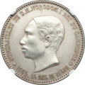 "Cambodia, Cambodia: Norodom I silver 4 Francs-Sized ""Funeral"" Medal 1905 MS62 NGC,..."