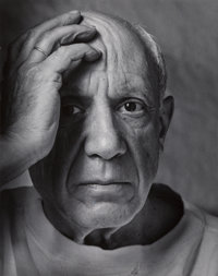 Arnold Newman (American, 1918-2006) Pablo Picasso, 1954 Gelatin silver, printed later 9-3/4 x 7-3