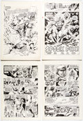 Original Comic Art:Complete Story, Dell Barras, E. R. Cruz, and Tom Luth Captain Thunder and Blue Bolt #6 Cover and Complete Issue Original Art and C... (Total: 52 Original Art)