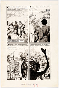 """Gray Morrow The World Around Us #32 """"For Gold and Glory"""" Story Page 4 Original Art (Gilberto"""