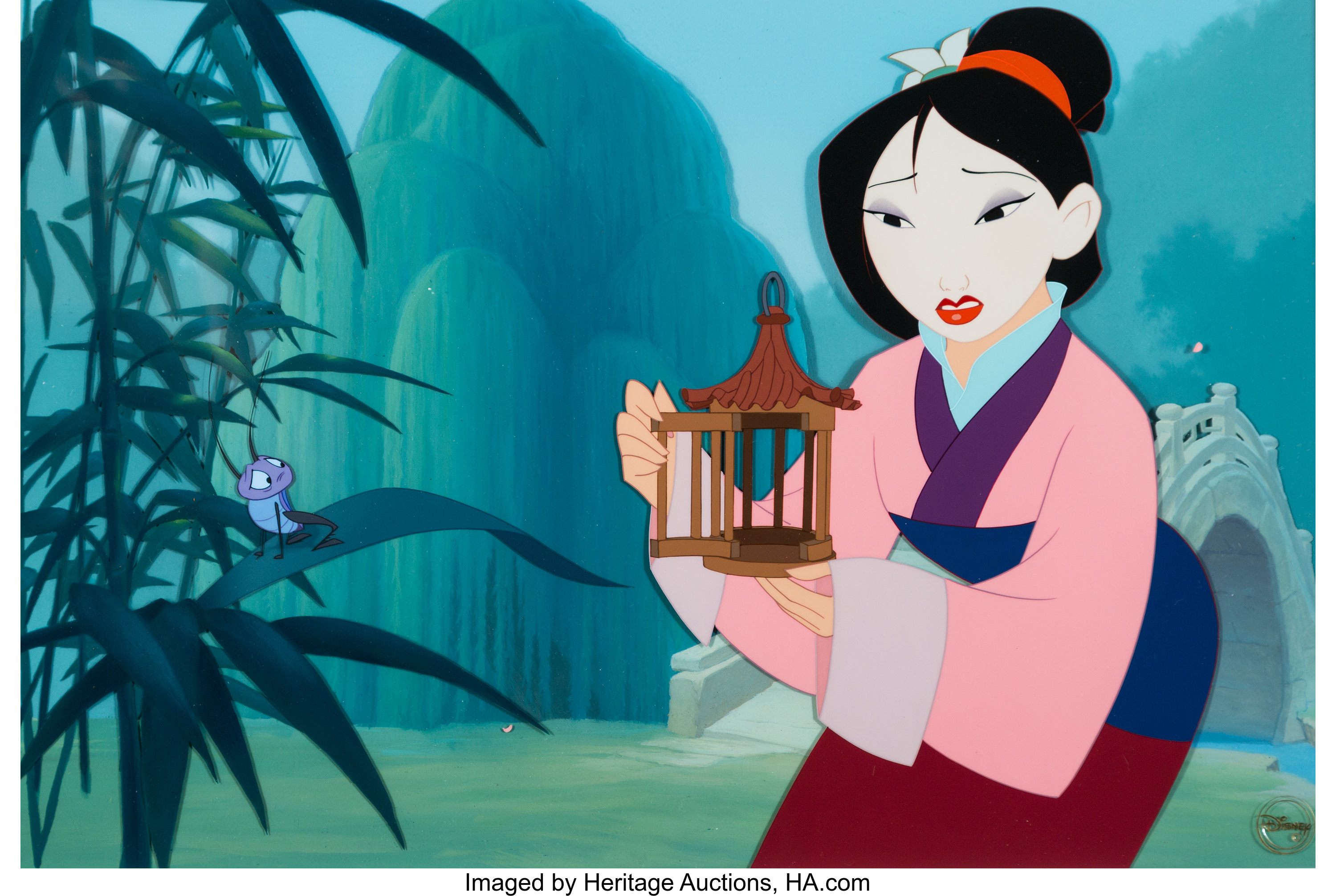 Mulan Shan Yu And Emperor Presentation Cel Setup And Hand Painted Lot 62312 Heritage Auctions