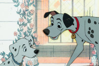 101 Dalmatians Pongo and Perdy Production Cel (Walt Disney, 1961)