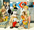 Animation Art:Production Drawing, Mickey Mouse 50th Birthday Studio Publicity Artwork (Walt ...