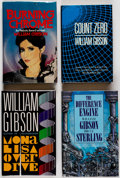 Books:Signed Editions, William Gibson Signed Hardcover Editions Group of 6 (Various, 1986-96).... (Total: 6 Items)