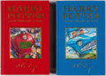 Books:Hardcover, J. K. Rowling Harry Potter Deluxe Editions Group of 2 (Bloomsbury, 1997).... (Total: 2 Items)