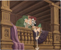 Animation Art:Production Cel, The Adventures of Ichabod and Mr. Toad Ichabod and The Headless Horseman Production Cel Setup on Master Production Bac...