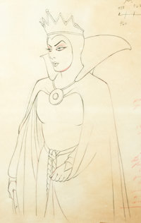 Snow White and the Seven Dwarfs Animation Drawing (Walt Disney, 1937)