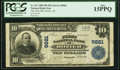 National Bank Notes:Alabama, Dozier, AL - $10 1902 Plain Back Fr. 627 The First National Bank Ch. # 9681 PCGS Fine 15PPQ.. ...