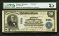National Bank Notes:Alabama, Dozier, AL - $20 1902 Plain Back Fr. 653 The First National Bank Ch. # 9681 PMG Very Fine 25.. ...