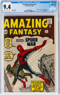 Amazing Fantasy #15 (Marvel, 1962) CGC NM 9.4 Off-white to white pages