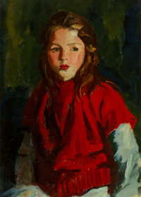 Robert Henri (American, 1865-1929) Blond Bridget Lavelle, 1928 Oil on canvas 28 x 20 inches (71.1