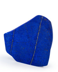 Lapis Free-From Afghanistan 4.65 x 4.18 x 1.17 inches (11.80 x 10.61 x 2.97 cm)