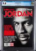 Basketball Collectibles:Publications, 1997 Michael Jordan Slam Presents - CGC 9.8, Pop One with None Higher!...