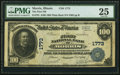 National Bank Notes:Illinois, Morris, IL - $100 1902 Plain Back Fr. 701 The First National Bank Ch. # 1773 PMG Very Fine 25.. ...