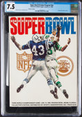 Football Collectibles:Programs, 1969 Super Bowl III Collector's Edition Program (Jets vs. Colts) - CGC 7.5, Pop One with None Higher!...