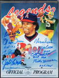 Autographs:Others, 1991 National Sports Collectors Convention Multi-Signed Program (12 Signatures)....