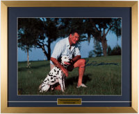 Ted Williams Signed & Framed Oversized Photograph