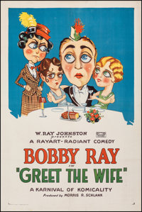 """Greet the Wife (Rayart Pictures, 1927). Very Fine- on Linen. One Sheet (27.25"""" X 41""""). Comedy. From the Collec..."""