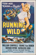 "Movie Posters:Bad Girl, Running Wild (Universal International, 1955). Very Fine- on Linen. One Sheet (27"" X 41""). Bad Girl. From the Collection of..."