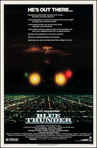 """Blue Thunder (Columbia, 1983). Rolled, Overall: Very Fine-. One Sheets (7) Identical (27"""" X 41""""). Action..."""