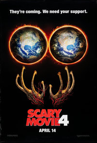 """Scary Movie 4 (Dimension, 2006). Rolled, Very Fine. One Sheets (16) (27"""" X 40"""") SS Teaser, 2 Styles. Comedy..."""