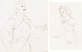 Animation Art:Production Drawing, Snow White and the Seven Dwarfs Snow White and the Prince Animation Drawing Group of 2 (Walt Disney, 1937).... (Total: 2 Original Art)