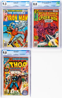 Marvel Bronze Age CGC-Graded Group of 3 (Marvel, 1977-79).... (Total: 3 )