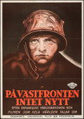 "Movie Posters:Academy Award Winners, All Quiet on the Western Front (Universal, 1930). Flat Folded, Fine/Very Fine. Swedish One Sheet (27.5"" X 39.25""). Academy A..."