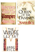 Books:Signed Editions, Anne Rice Vampire Chronicles Hardcover Editions Group of 3 (Knopf, 1985-96).... (Total: 3 Items)