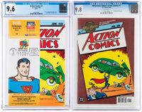 Action Comics #1 CGC-Graded Reprint Editions Group of 2 (DC, 1998-2000).... (Total: 2 Comic Books)
