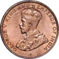 Hong Kong : British Colony. George V Cent 1933 MS65 Red NGC