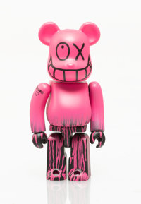 BE@RBRICK X Andre Saraiva Mr. A tout va bien 100%, 2005 Painted cast resin 2-3/4 x 1-1/4 x 3/4 inches (7.x 3.2 x 1.9