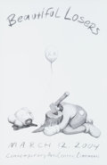 Prints & Multiples, KAWS X Contemporary Arts Center. Beautiful Losers, exhibition poster, 2004. Offset lithograph in colors on smooth wove p...