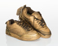 Collectible, Ed Templeton X Emerica. Templeton 2 (Gold Edition). Pair of sneakers with hand painting. Size 10-1/2 . Ed. 206/665. Prod...
