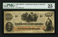 Confederate Notes:1862 Issues, Issued at Monroe, LA T41 $100 1862 PF-20 Cr. 316A PMG Very Fine 25.. ...