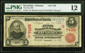 Brundidge, AL - $5 1902 Red Seal Fr. 587 The First National Bank Ch. # (S)7429 PMG Fine 12