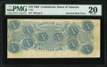 Confederate Notes:1863 Issues, Inverted Back Error T59 $10 1863 PF-191B Cr. 442IB PMG Very Fine 20, CC.. ...