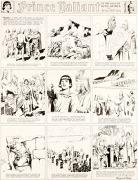 Hal Foster Prince Valiant #310 Sunday Comic Strip Original Art dated 1-17-43 (King Features