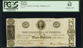 Obsoletes By State:Florida, Tallahassee, FL- Territory of Florida $3 June 8, 1830 Cr. T10 Benice 8 PCGS New 62.. ...
