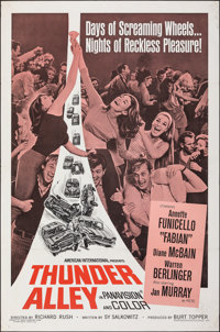 "Thunder Alley (American International, 1967). Flat Folded, Very Fine-. One Sheet (27"" X 41""). Action"