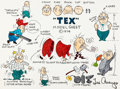 "Animation Art:Model Sheet, ""Tex"" Model Sheet Hand-Colored Print (Hanna-Barbera, 1974)...."