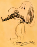 Animation Art:Production Drawing, Snoopy Sketch by Bill Melendez and Gifts Group of 4 (Art B...