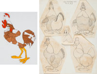Stupid Cupid/The Good Egg Production Cel and Original Model Sheet Group of 2 (Warner Brothers, 1944/1939). ... (Total: 2...