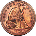 1864 $1 Seated Dollar, Judd-397, Pollock-465, R.6, PR62 Red PCGS....(PCGS# 70568)