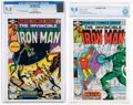 Modern Age (1980-Present):Superhero, Iron Man #136 and 137 CGC/CBCS-Graded Group (Marvel, 1980) NM/MT 9.8 White pages.... (Total: 2 )
