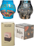 Music Memorabilia:Memorabilia, The Beatles Set of Candles, Salt and Pepper Shakers, and Mental Block Desk Cube....