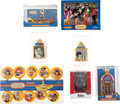Music Memorabilia:Memorabilia, The Beatles Yellow Submarine Group of Subafilms Christmas Ornaments....