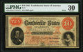 Confederate Notes:1861 Issues, T24 $10 1861 PF-10 Cr. 167 PMG Very Fine 30.. ...