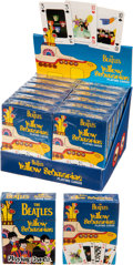 Music Memorabilia:Memorabilia, The Beatles Yellow Submarine Playing Cards With Display (circa 2004). ...