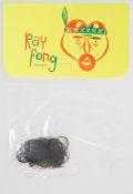 Collectible, Barry McGee (b. 1966). Ray Fong, c. 2006. Hairnet with screenprinted tag. 3-1/4 x 5-1/2 inches (8.3 x 14 cm). ...